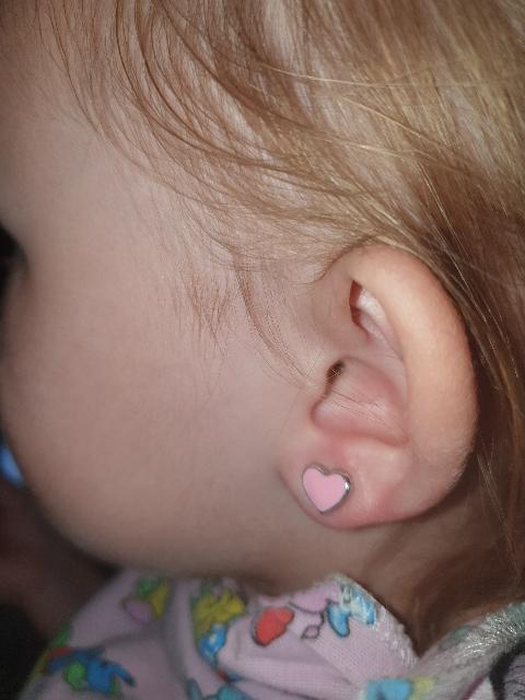 Детские серёжки с эмалью
