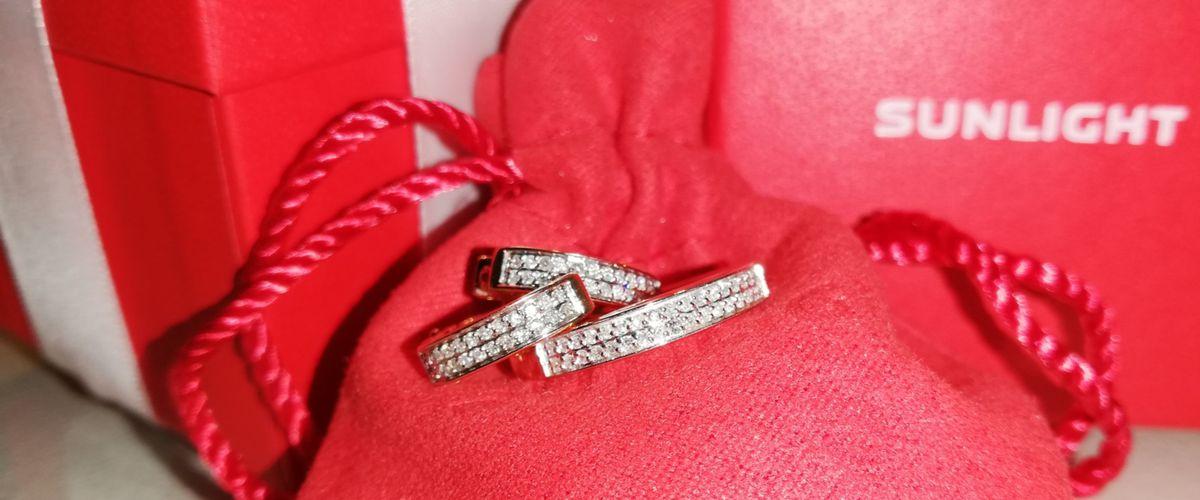 Кольцо с дорожками бриллиантов