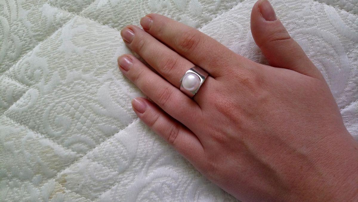 Великолепное кольцо с жемчугом